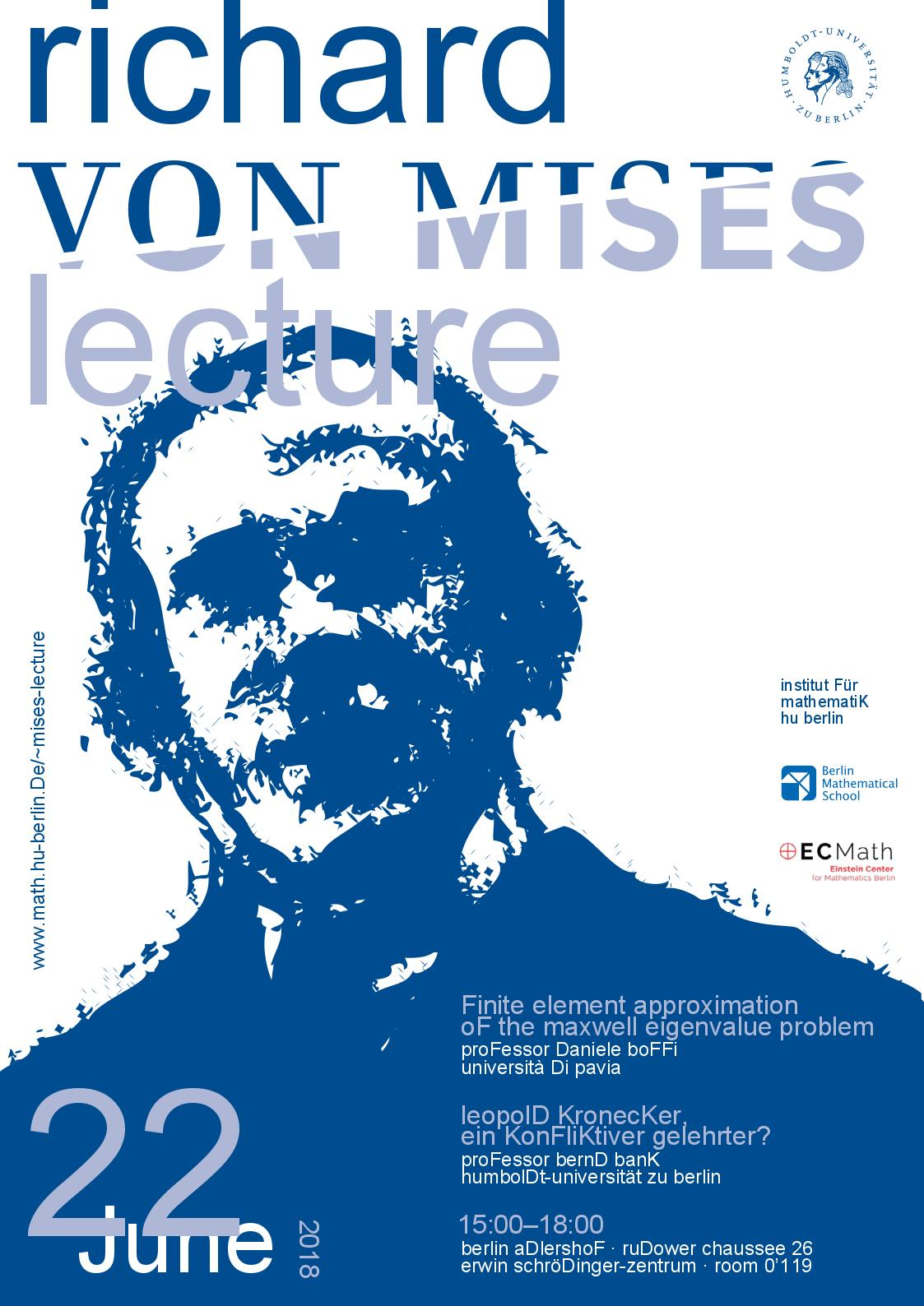 Poster Mises Lecture 2018